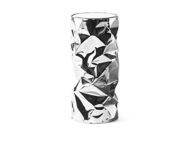 Sgabello alluminio stropicciato